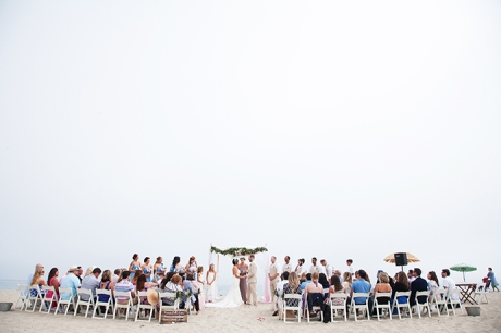 Santa Barbara East Beach Wedding Ceremony