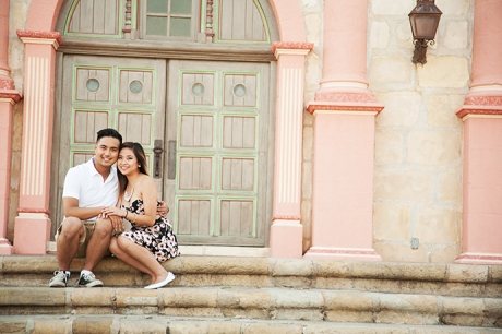 Santa Barbara Mission Engagement Photography