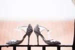 Bride's Shoes at the Hyatt Santa Barbara