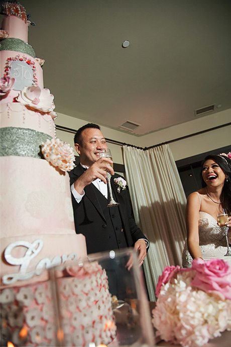 Cake Cutting Wedding Reception