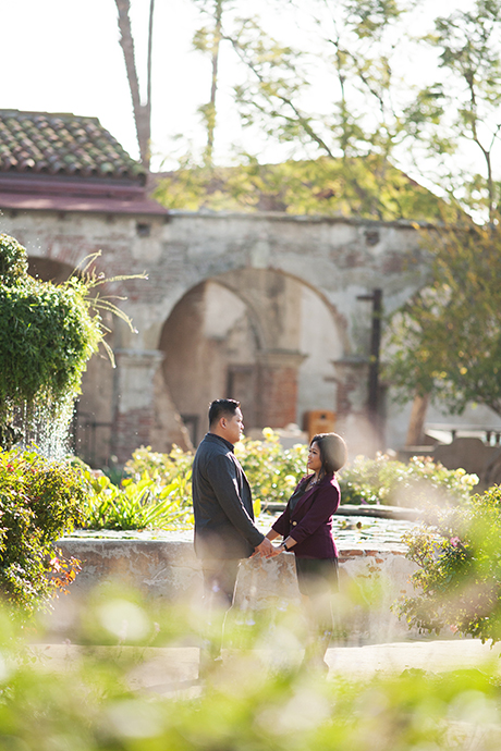 San Juan Capistrano Mission Engagement Photography