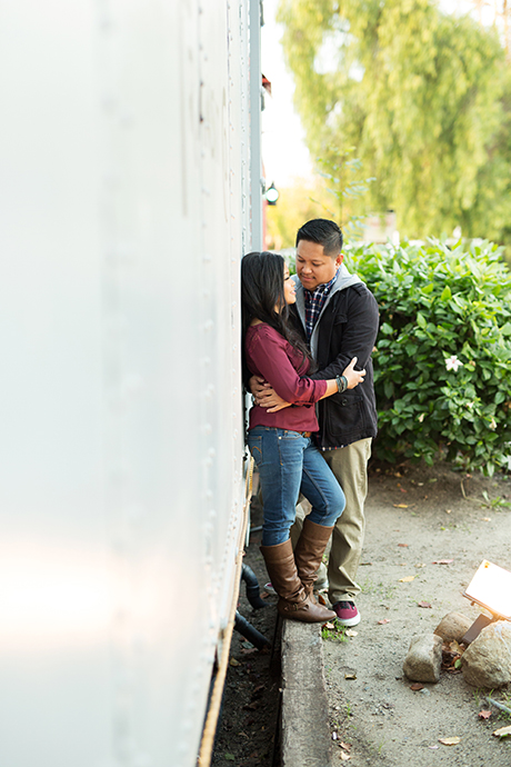 San Juan Capistrano Train Station Engagement Pictures