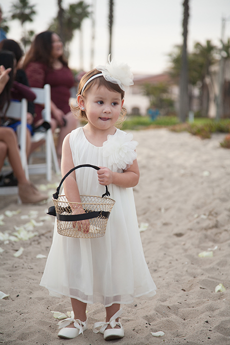 Flower Girl Beach Wedding