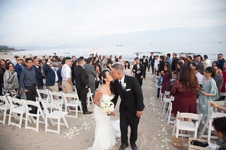 Santa Barabra East Beach Wedding Ceremony