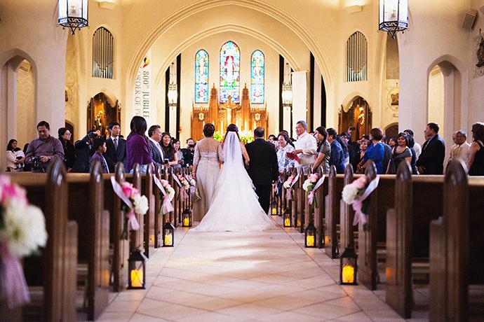St. Dominc Church Wedding in Eagle Rock