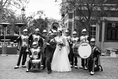 USC Marching Band Wedding
