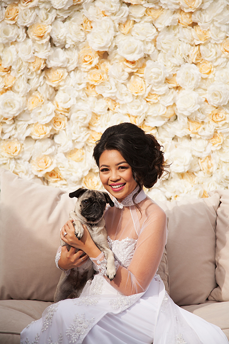 Bride and Her Dog
