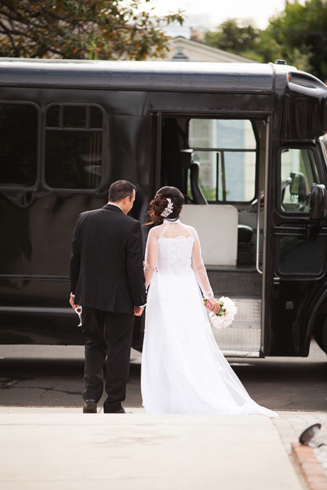 Bride and Groom Limo