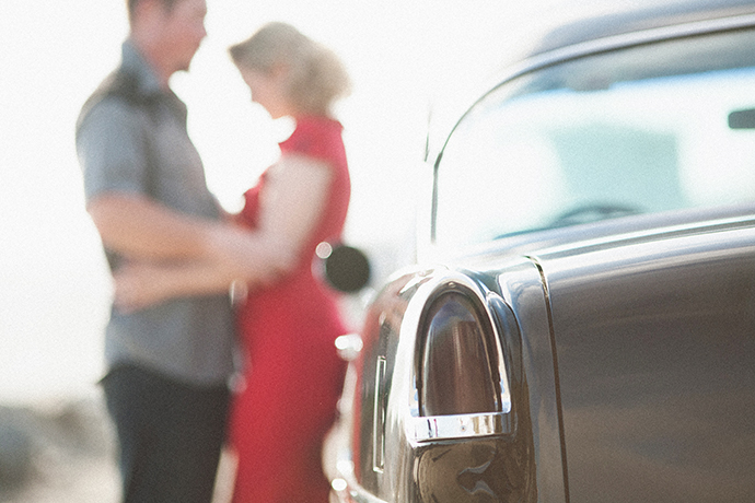 Classic Car Engagement Pictures
