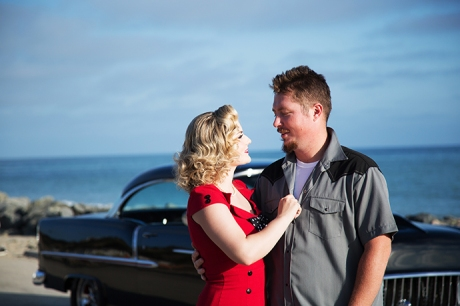 Classic Car Engagement Session