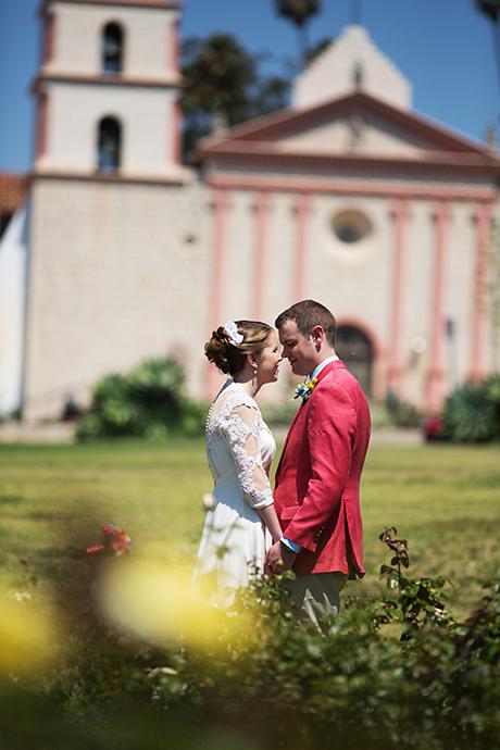 Santa Barbra Mission Wedding Pictures