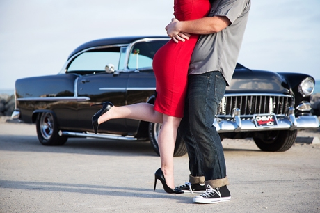 Vintage Car Engagement Session