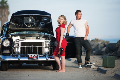 1950's Themed Engagement Pictures