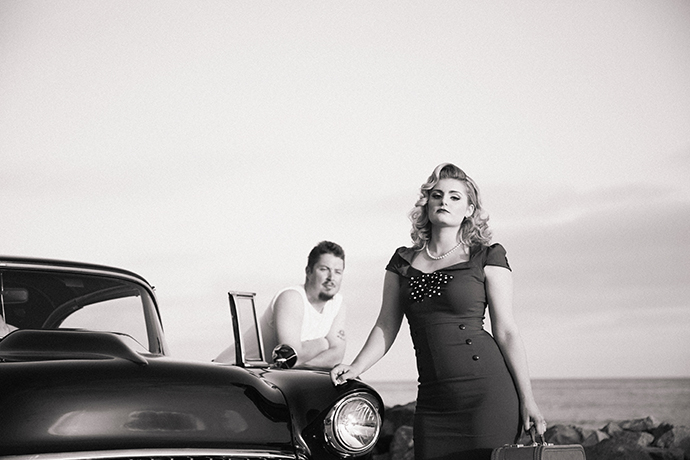 Vintage 1950's Style Engagement Session