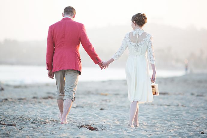 Santa Barbara East Beach Wedding Photography