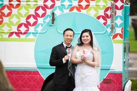Ice Cream Truck Wedding Pictures