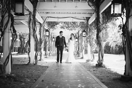 Bride and Groom at Newport Beach Hyatt