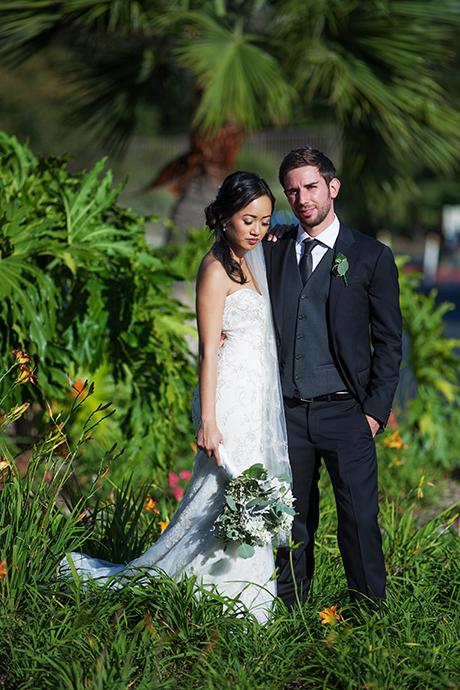 Bride and Groom at Newport Dunes Wedding