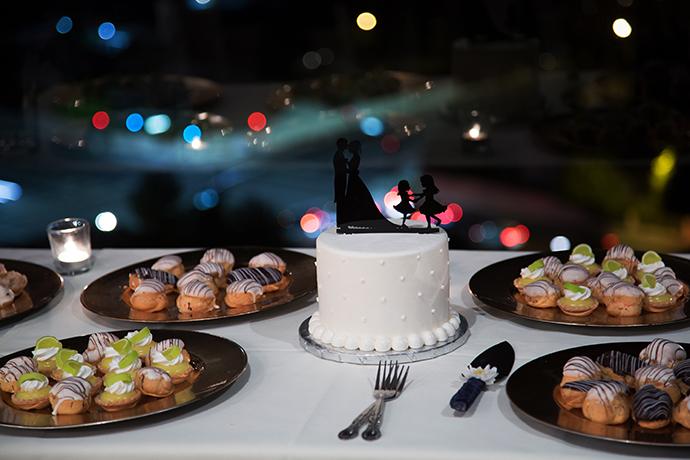 Dessert Table at Orange County Mining Company Wedding Reception