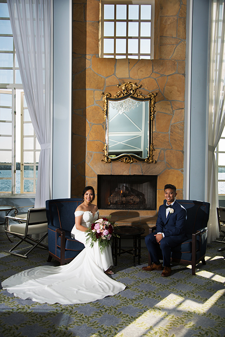 Off camera lighting at Portofino Hotel Wedding