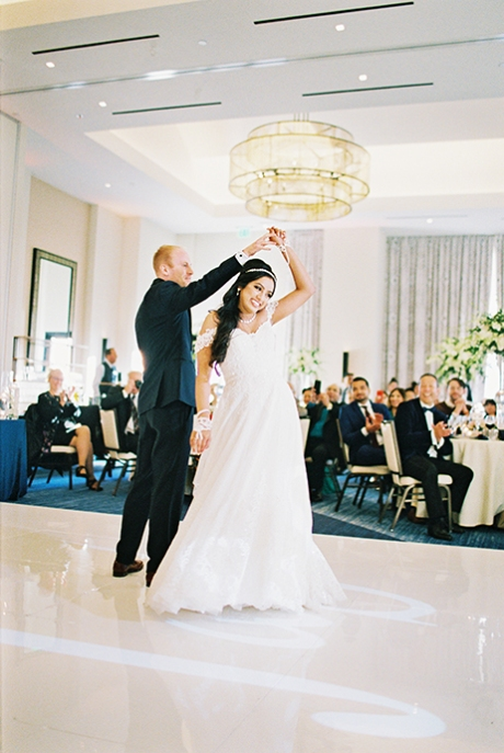 Fuji Pro 400H Wedding Reception Photography
