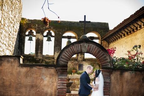 San Juan Capistrano Mission Bells Wedding Photography